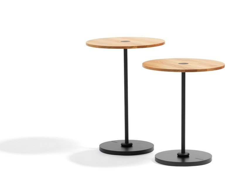 Round wooden coffee table COURONNE | Wooden coffee table by Blå Station