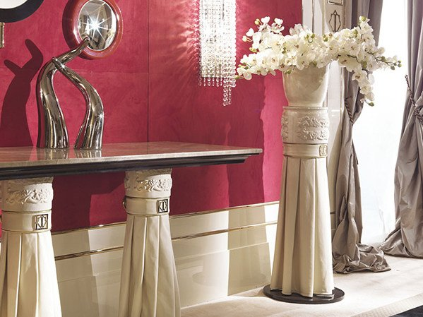 Leather pedestal COUTURE   Pedestal by Turri