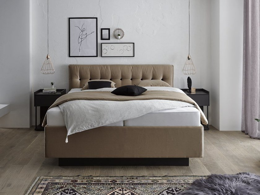 Upholstered fabric storage bed COUTURE 4.0 PULSA by Femira