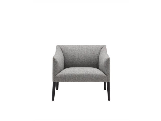 Upholstered fabric easy chair with armrests COUVÉ BU1264 by Andreu World