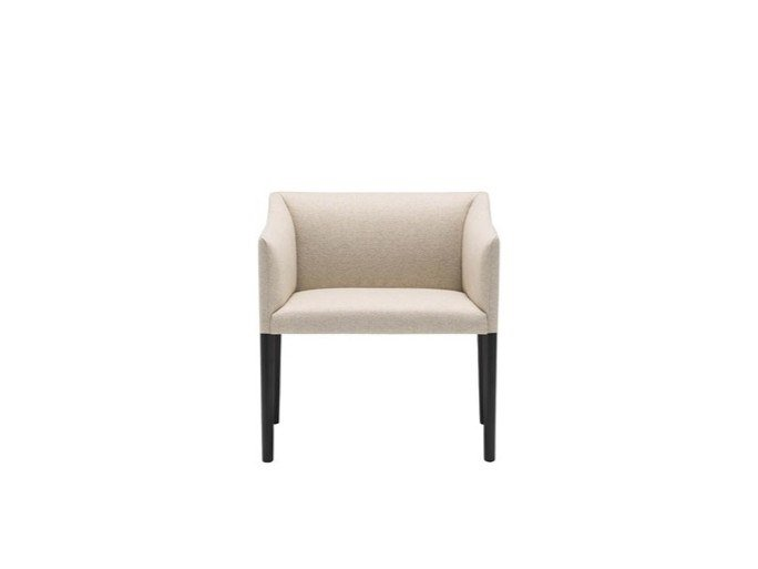 Upholstered fabric easy chair with armrests COUVÉ BU1276 by Andreu World