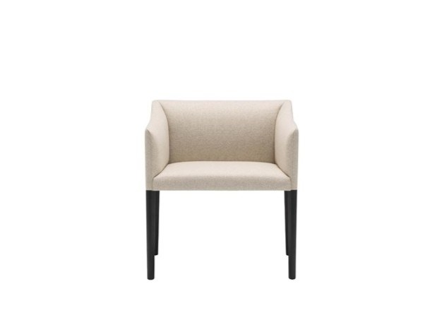 Upholstered fabric chair with armrests COUVÉ SO1274 by Andreu World