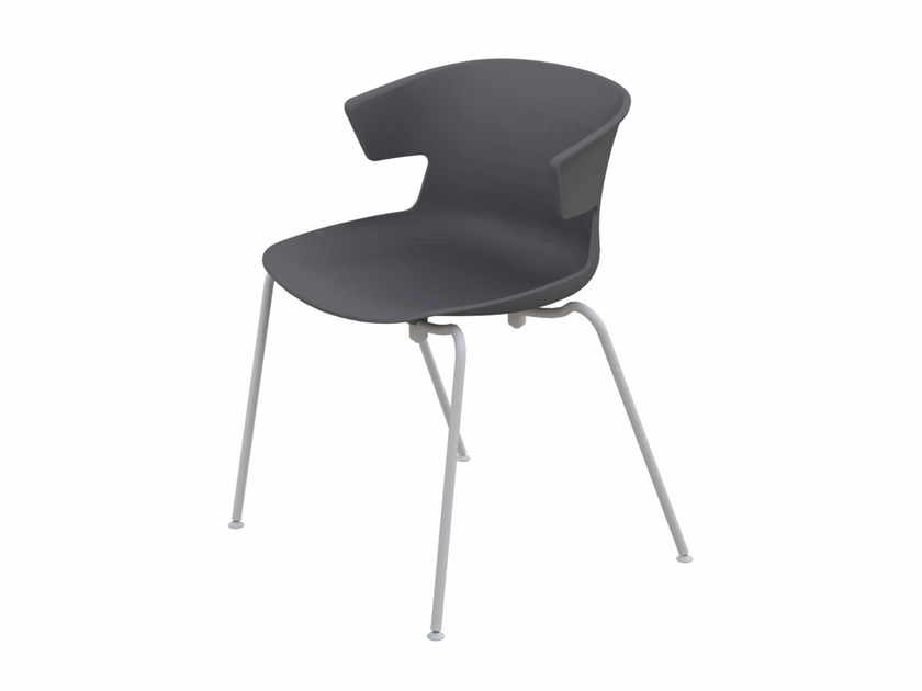 Stackable polypropylene chair COVE | Chair by Quadrifoglio