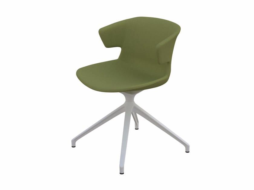Polypropylene chair with 4-spoke base COVE | Chair with 4-spoke base by Quadrifoglio