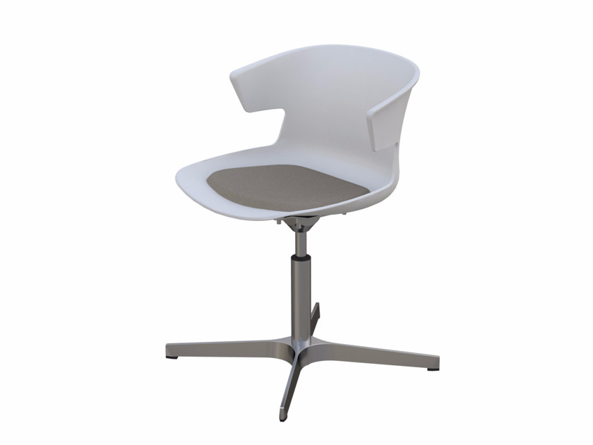 Upholstered chair with 4-spoke base COVE | Chair with 4-spoke base by Quadrifoglio