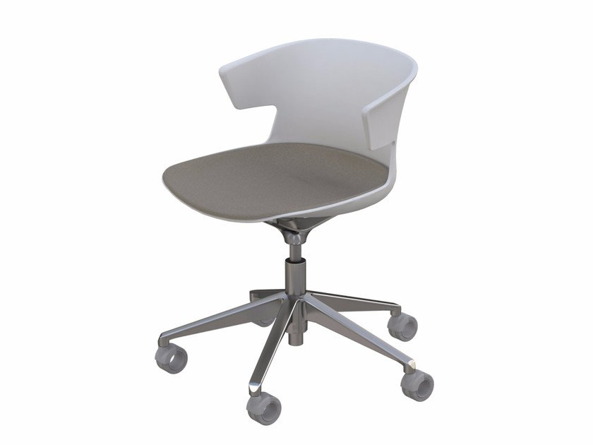 Task chair with 5-Spoke base with casters COVE   Chair with casters by Quadrifoglio