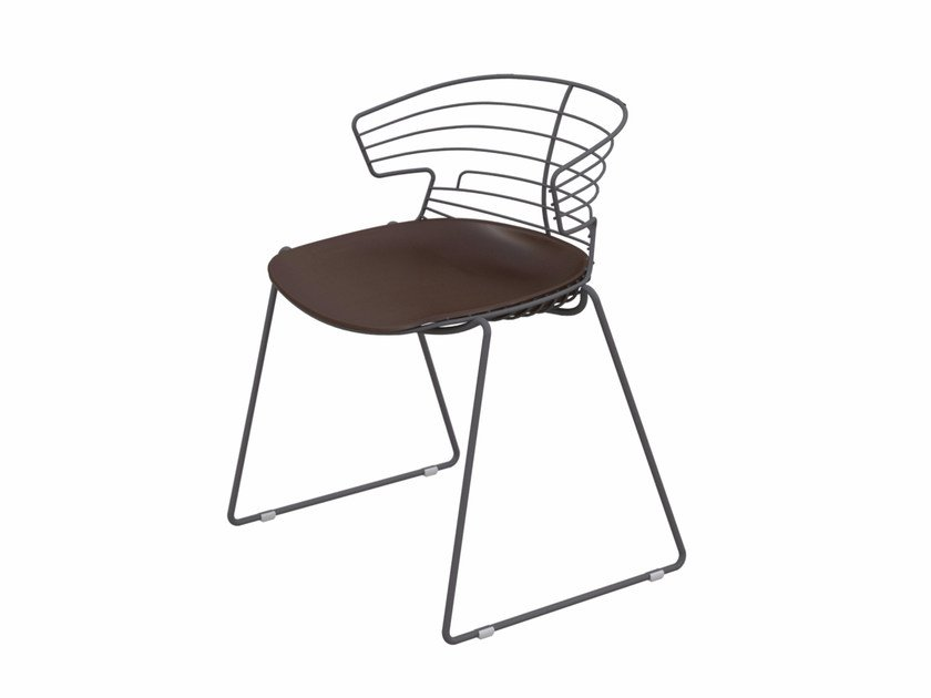 Sled base metal chair COVE | Sled base chair by Quadrifoglio