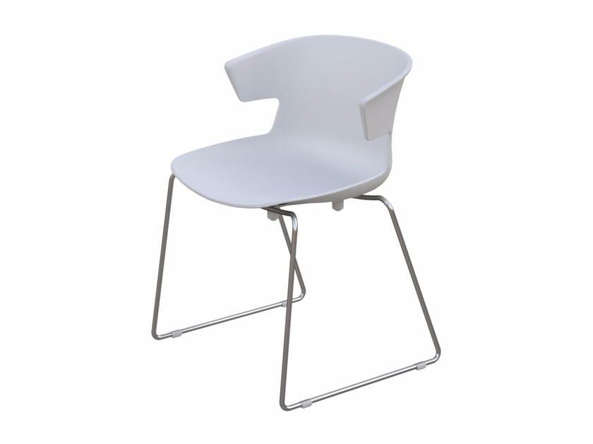 Polypropylene chair COVE | Sled base chair by Quadrifoglio