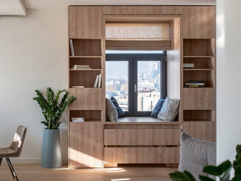 Freestanding oak bookcase with drawers CP LAB DESIGN | Bookcase by CP Parquet