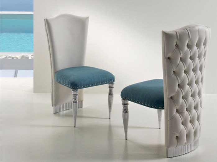 Tufted upholstered fabric chair CP185 | Chair by Rozzoni