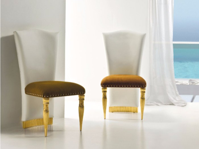 Upholstered fabric chair CP186 | Chair by Rozzoni