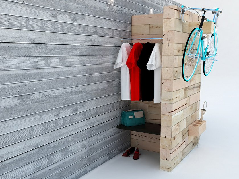 Wall-mounted beech Bicycle storage CRAFTWAND® | Bicycle storage by CRAFTWAND