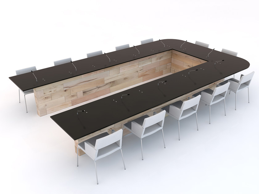 Modular beech meeting table CRAFTWAND® | Meeting table by CRAFTWAND