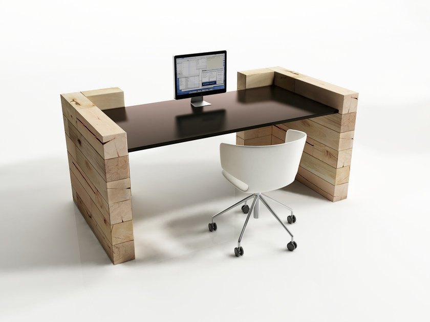 Beech office desk CRAFTWAND® | Office desk by CRAFTWAND
