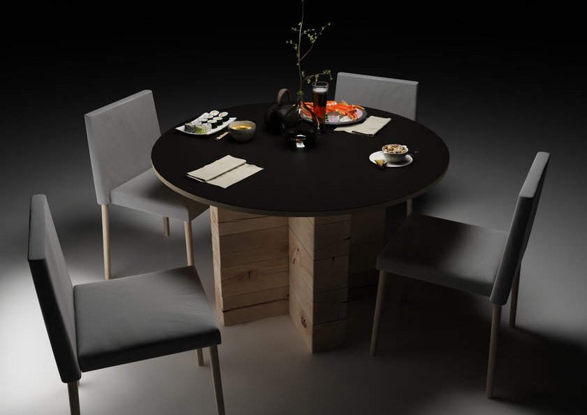 Round beech dining table CRAFTWAND® | Table by CRAFTWAND