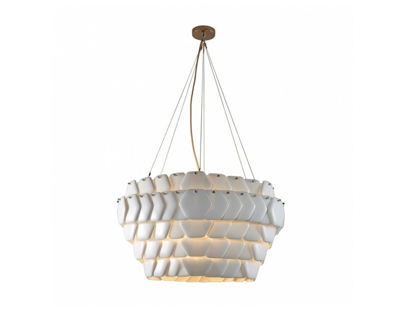 Porcelain pendant lamp with dimmer CRANTON HEXAGONAL by Original BTC