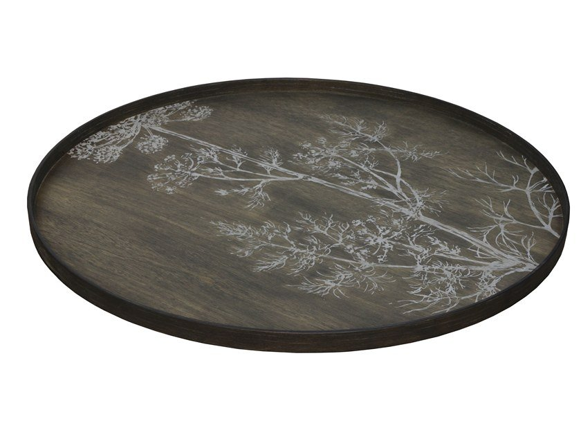 Round wooden tray CREAM DILL by Notre Monde