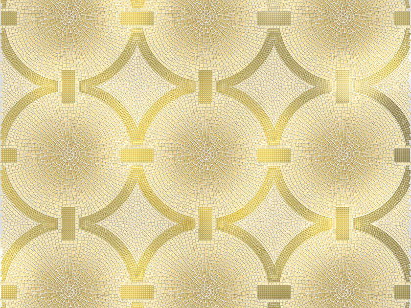 Glass mosaic CREAM RING by DG Mosaic
