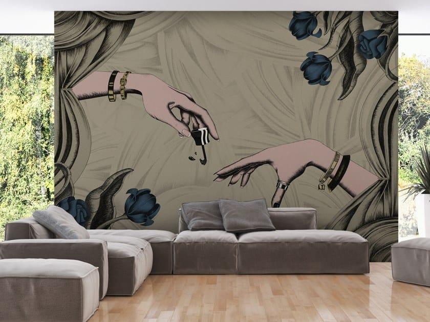 Pop art vinyl wallpaper CREATION OF MADAM by Baboon