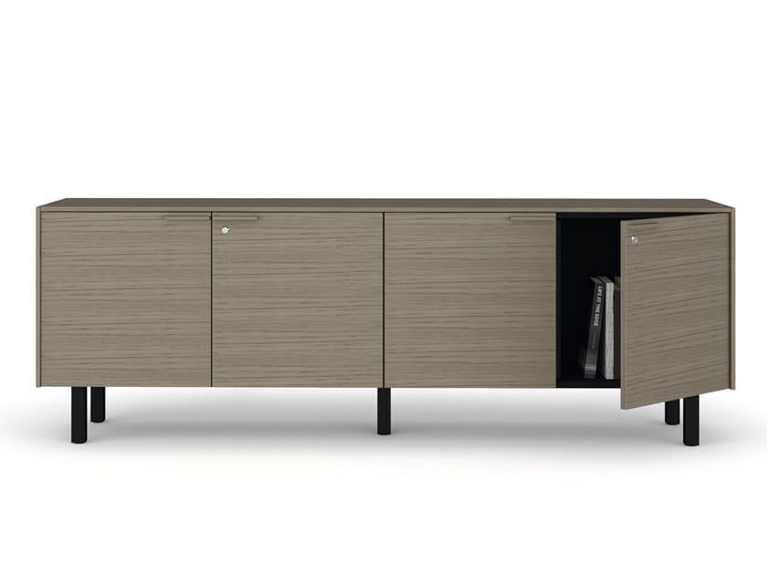 Mobile ufficio basso in legno con serratura CREDENZE | Mobile ufficio by Bralco