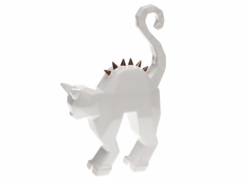 Ceramic decorative object CREEPY CAT STATUE by Byfly