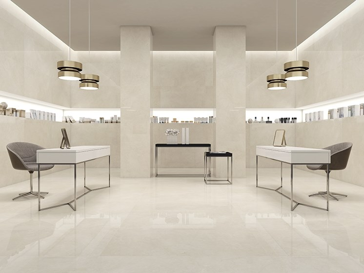 Porcelain wall/floor tiles with marble effect CREMA MARFIL by ITT Ceramic