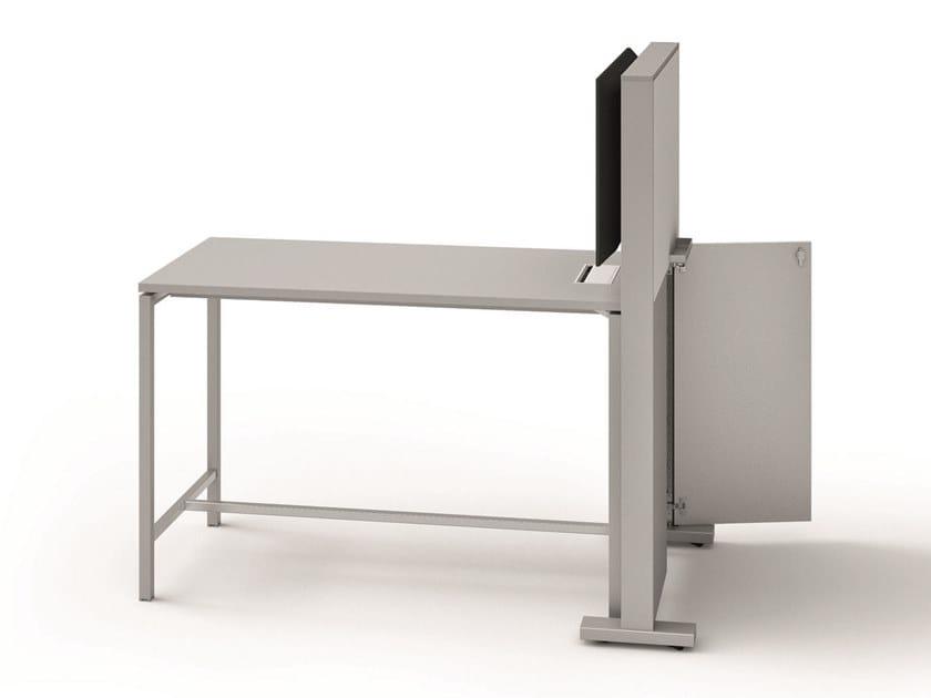 Multimedia rectangular meeting table CREO | Multimedia meeting table by Quadrifoglio