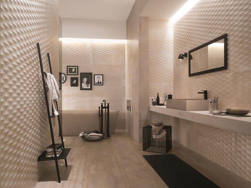 White-paste wall tiles CRETA DIAMANTE | 3D Wall Cladding by FAP ceramiche