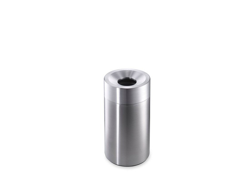 Stainless steel waste paper bin CREW 10 by rosconi