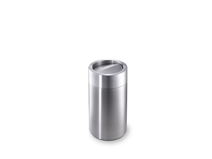 Stainless steel waste paper bin CREW 12 by rosconi