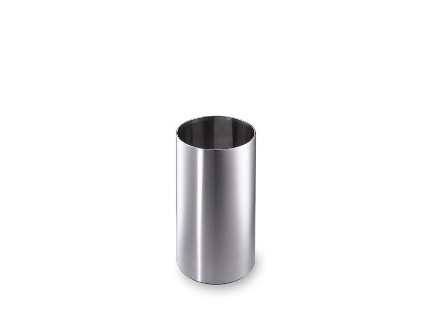 Stainless steel waste paper bin CREW 14 by rosconi