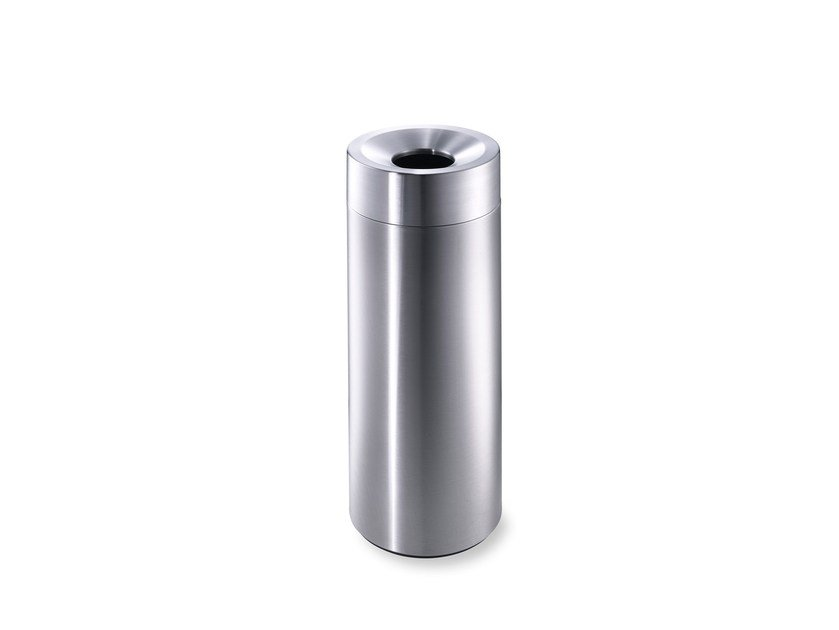Stainless steel waste paper bin CREW 20 by rosconi