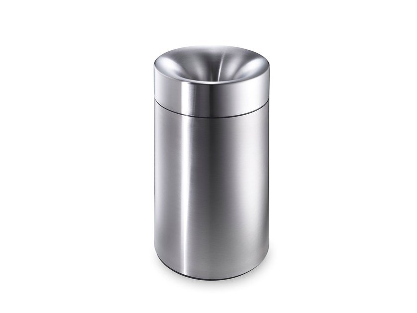 Stainless steel waste paper bin CREW 30 by rosconi