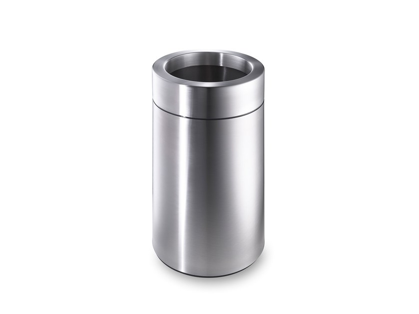 Stainless steel waste paper bin CREW 31 by rosconi