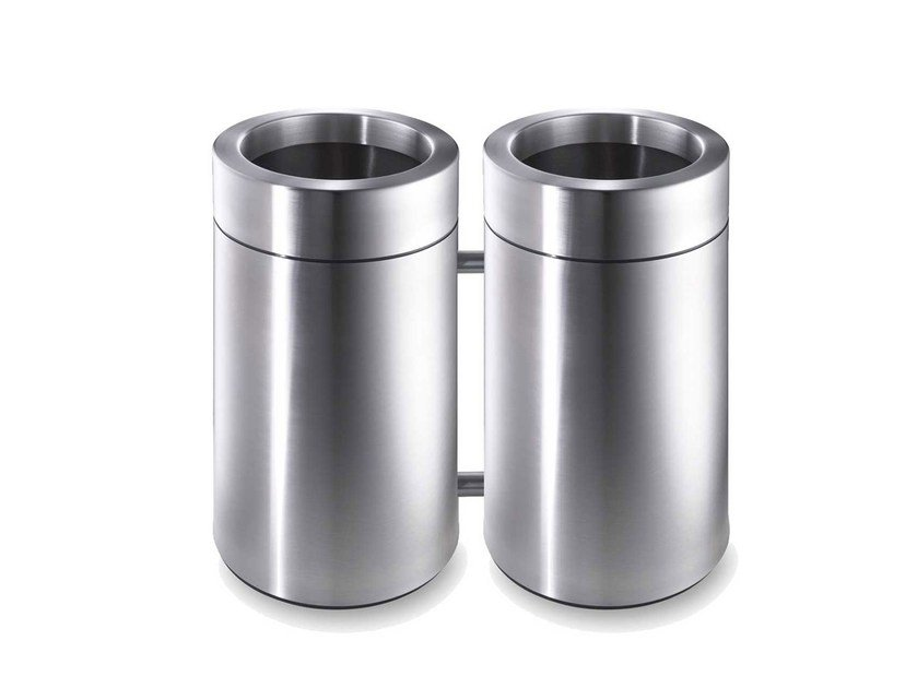 Stainless steel waste paper bin CREW 432 by rosconi