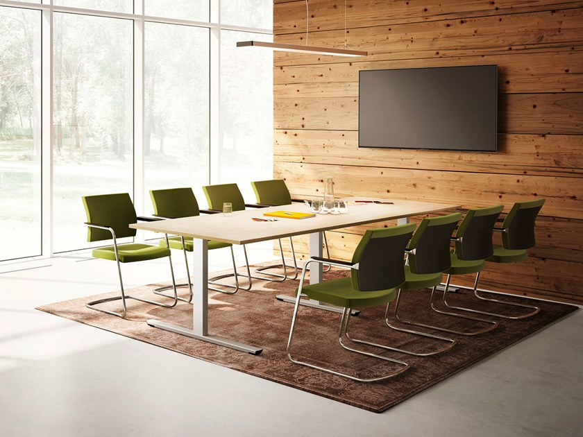 Modular meeting table CREW | Meeting table by PALMBERG