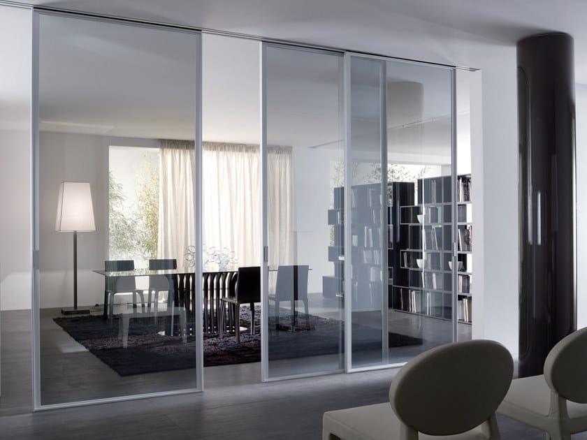 Glass sliding door CRISTAL | Sliding door by Longhi