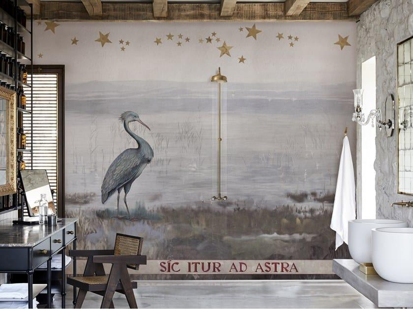 Carta da parati con paesaggi per bagno CRISTALLINO by Wall&decò