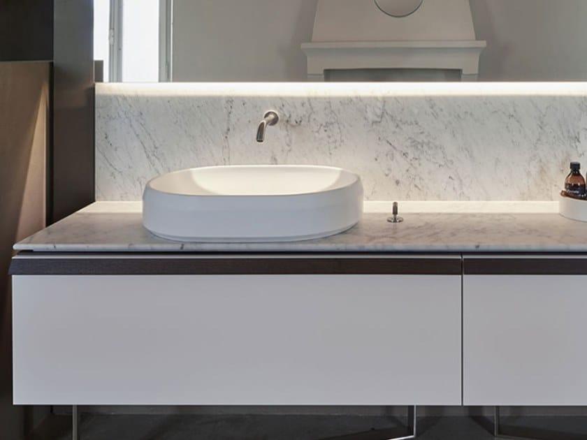 Countertop oval Cristalplant® washbasin LARIANA | Cristalplant® washbasin by Agape