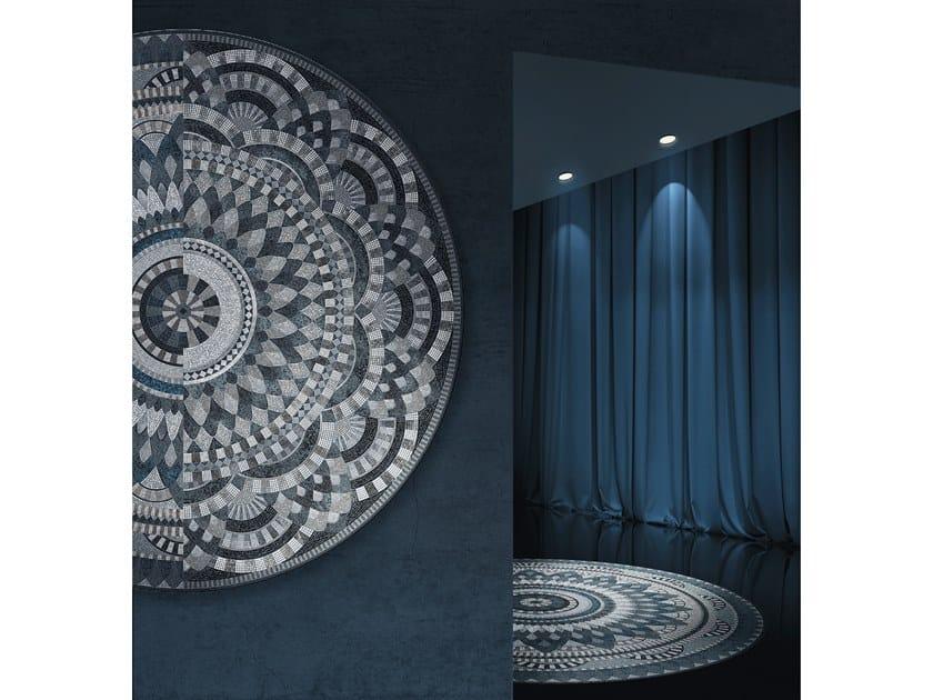 Glass mosaic CROCHET BLUE by Mutaforma