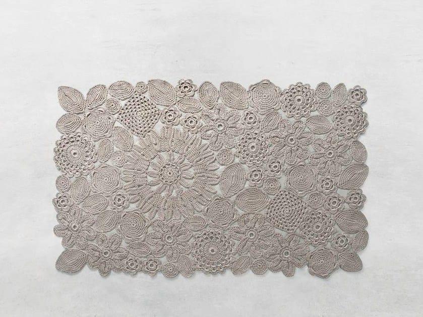 Tappeto Alluncinetto Rettangolare : Tappeto a fiori fatto a mano rettangolare crochet tappeto