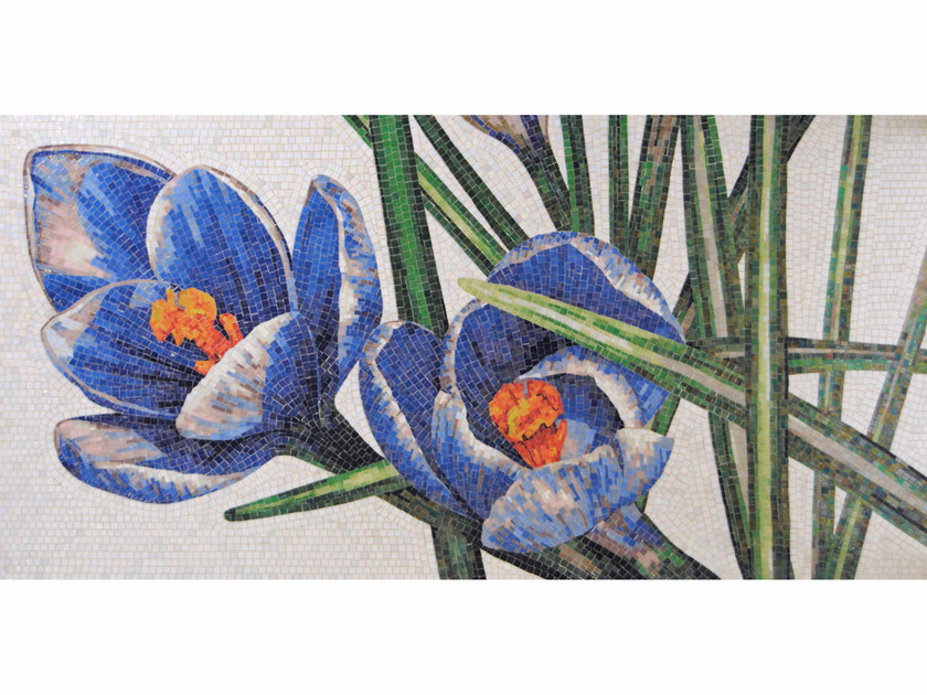 Stained glass mosaic CROCUS B by FRIUL MOSAIC