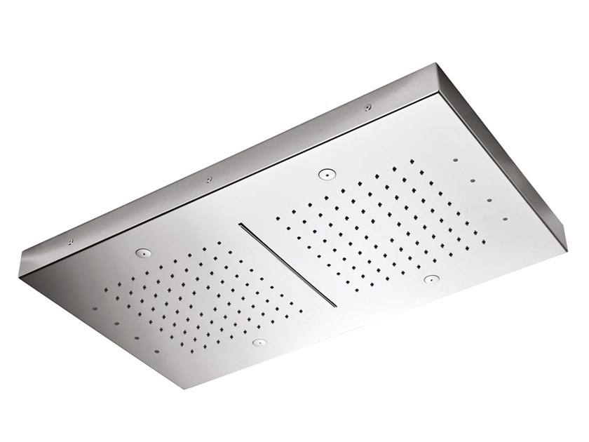 Ceiling mounted stainless steel waterfall shower CROMOTERAPIA SOFCRT971000 by BIANCHI RUBINETTERIE