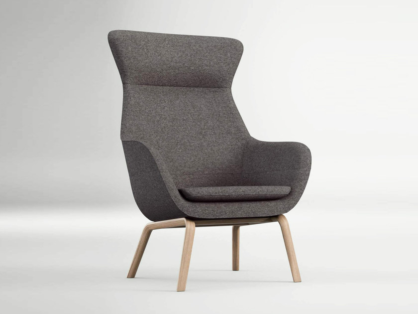 Lovely High Back Armchair With Armrests CRONA LOUNGE | Armchair By Brunner