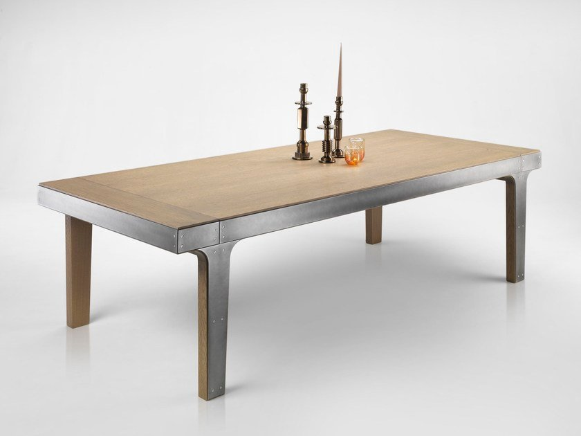 Extending oak table CRONOS by L'Ottocento
