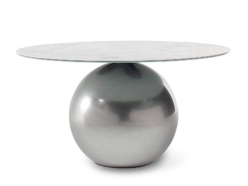 Tavolo rotondo con base in metallo CIRCUS by Bonaldo