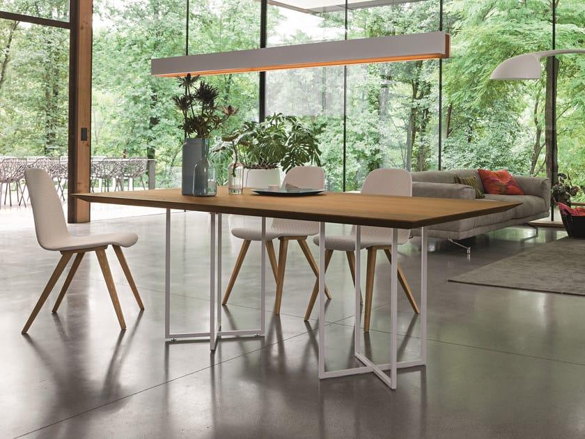 Rectangular oak table CROSS | Rectangular table by Dall'Agnese