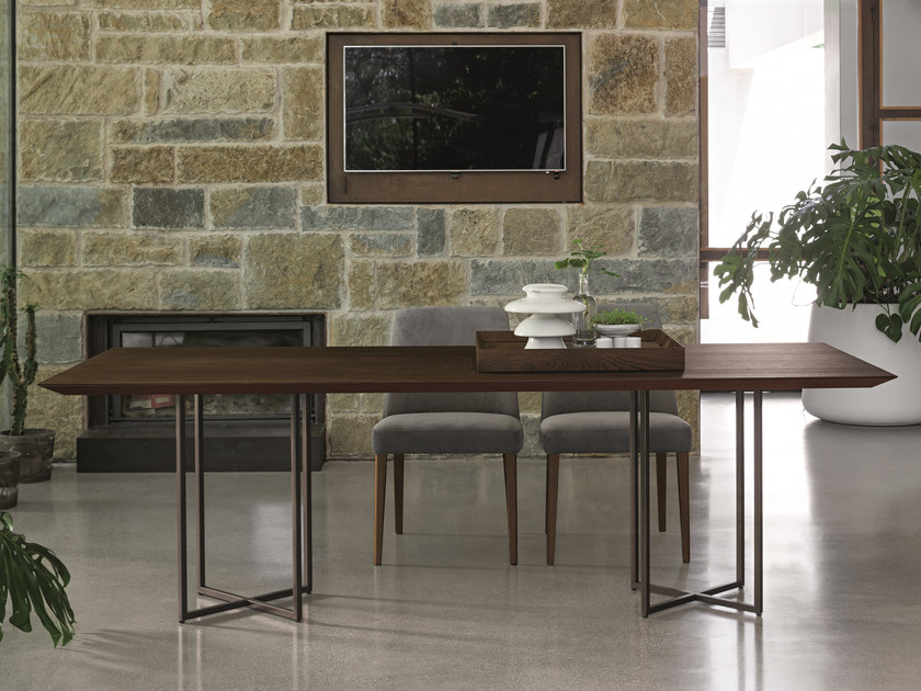Rectangular wooden table CROSS | Table by Dall'Agnese