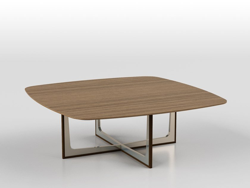 Low square coffee table CROSS | Square coffee table by F.lli Orsenigo