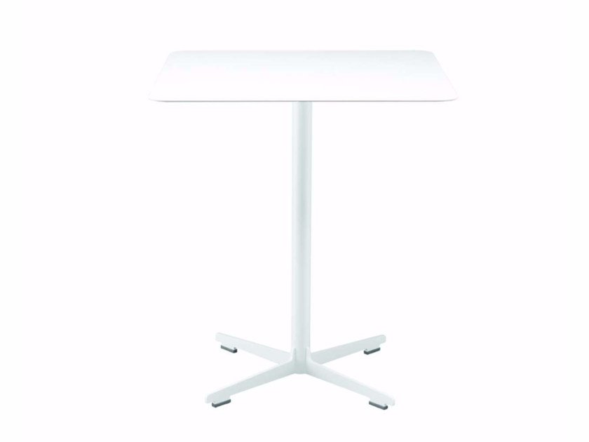 Square table with 4-star base CROSS TABLE - 574_O | Table by Alias